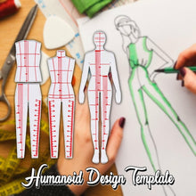 Load image into Gallery viewer, Humanoid Design Template (Set)