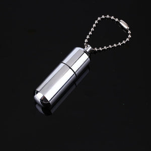 Waterproof Fire Starter Capsule Keychain/ Necklace (Free Shipping)