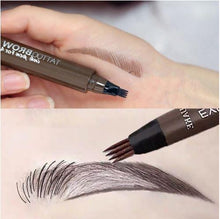 Load image into Gallery viewer, Waterproof 4 Tips Brow Pen