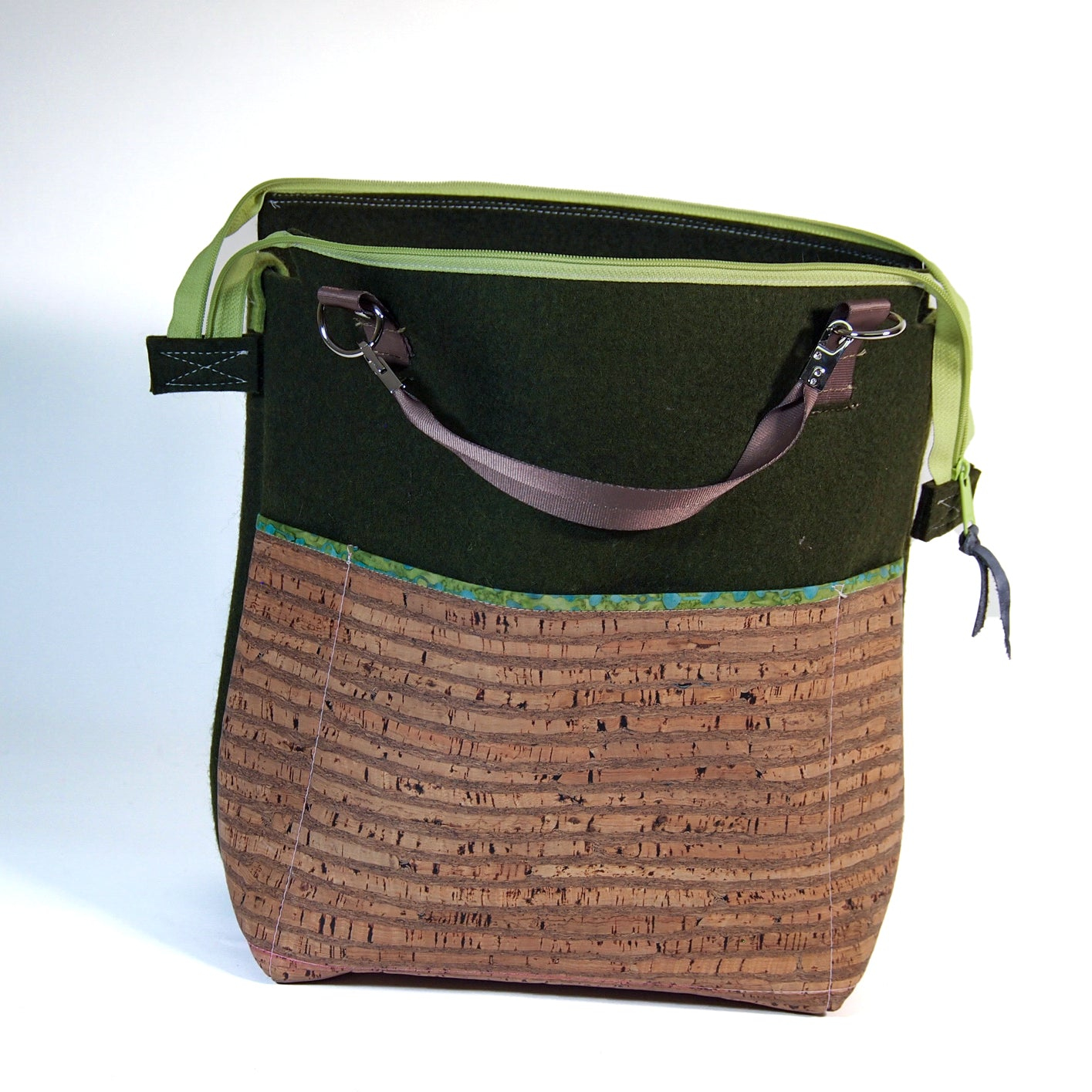 Jo's Cork and Industrial Felt bag