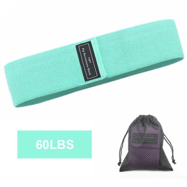 GymBoxUK Fabric Squat Resistance Band - Pastel Green (Beginner)