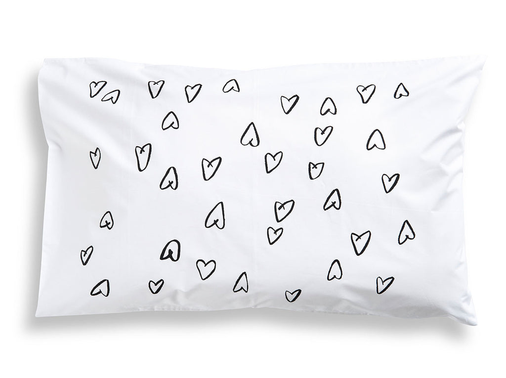 Black Hearts Pillowcase