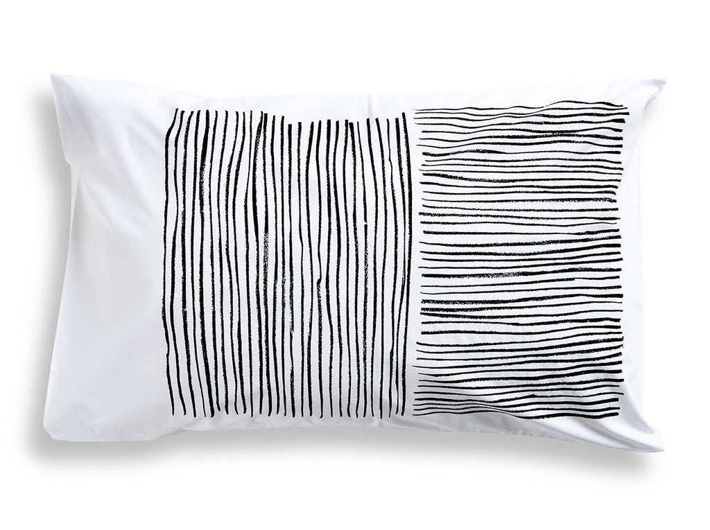 Black Lines Pillowcase