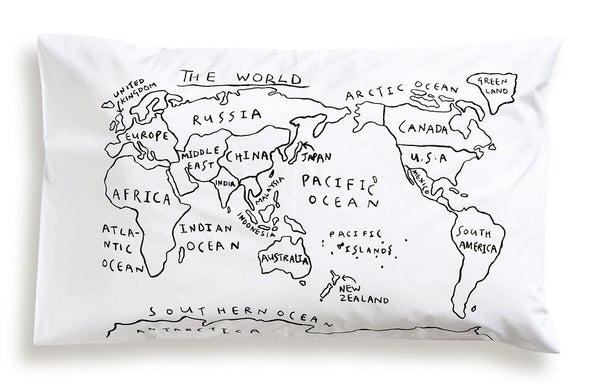 World Map Pillowcase