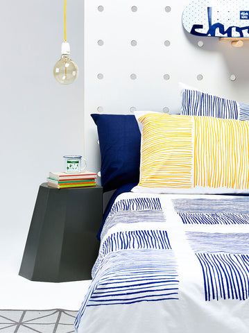 Navy Lines Duvet Cover