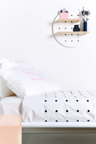 Black Pegboard Duvet Cover