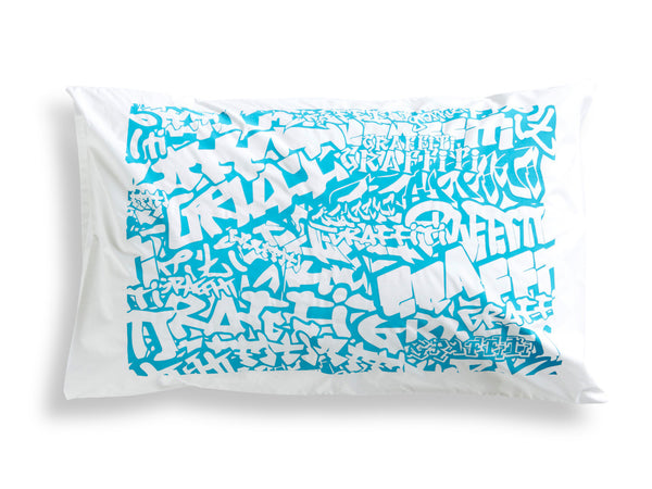 Blue Graffiti Pillowcase