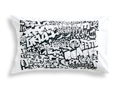 Black Graffiti Pillowcase