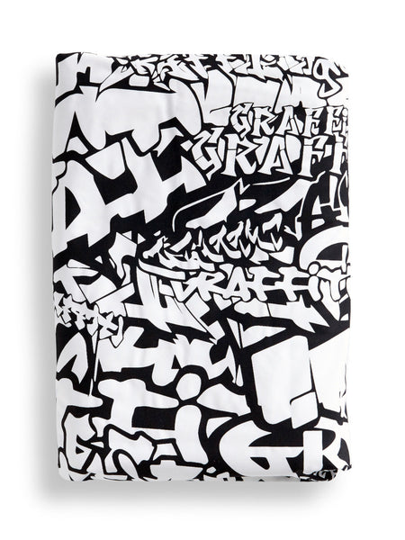 Black Graffiti Duvet Cover