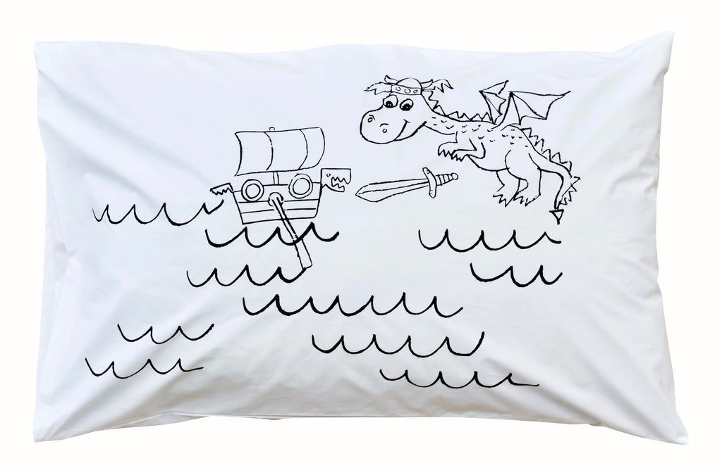 Little Dragon Pillowcase -Black