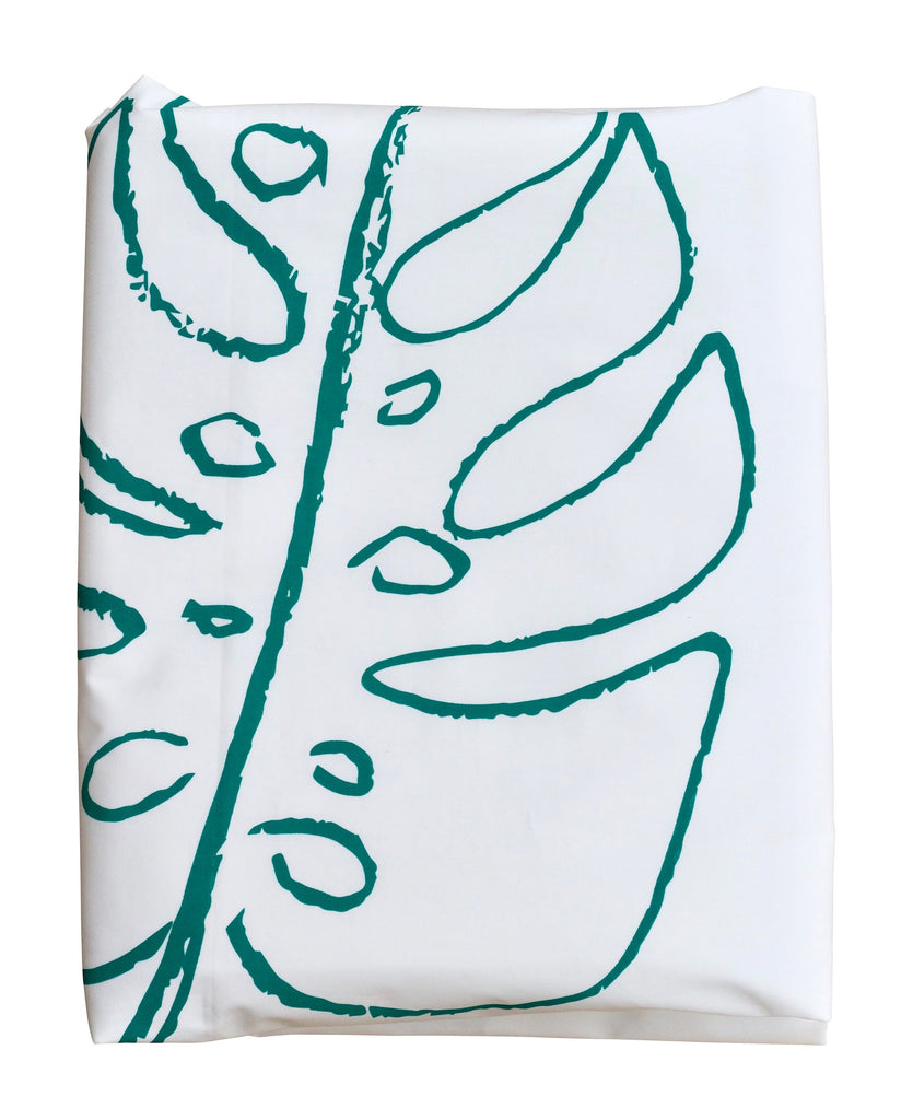 Green Monstera Duvet Cover
