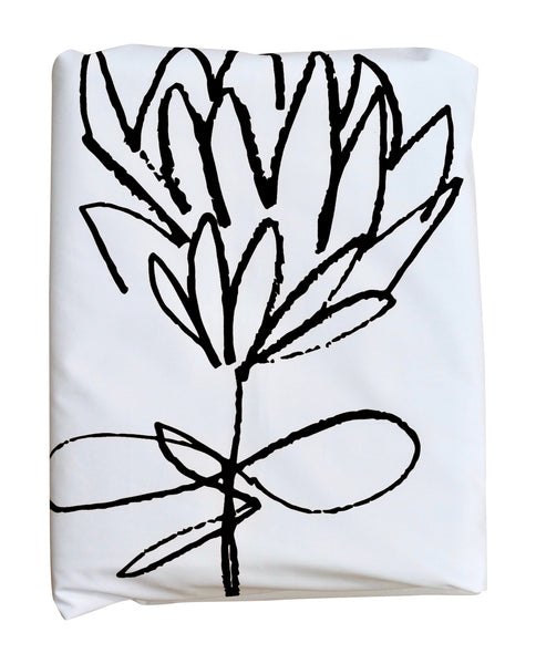 Black Protea Duvet Cover