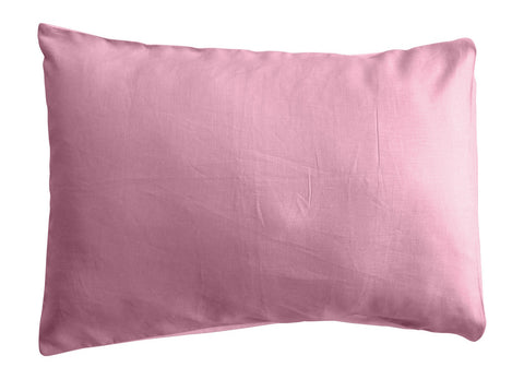 Pink Linen Colourblock Pillowcase