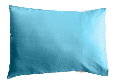 Blue Linen Colourblock Pillowcase