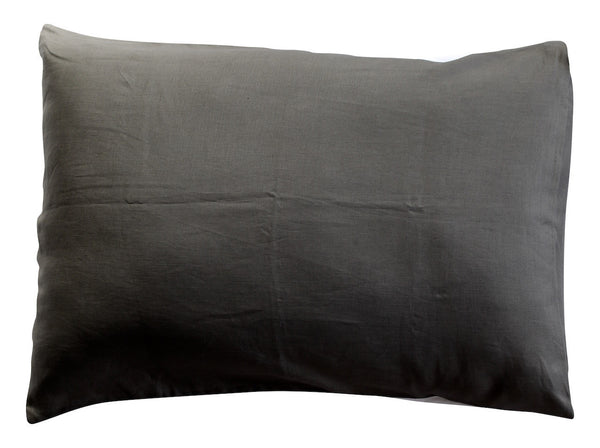 Grey Linen Colourblock Pillowcase