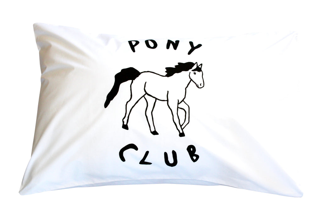 Black Pony Club Pillowcase