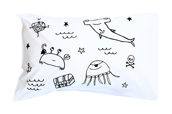 Black Pirate Gang Pillowcase