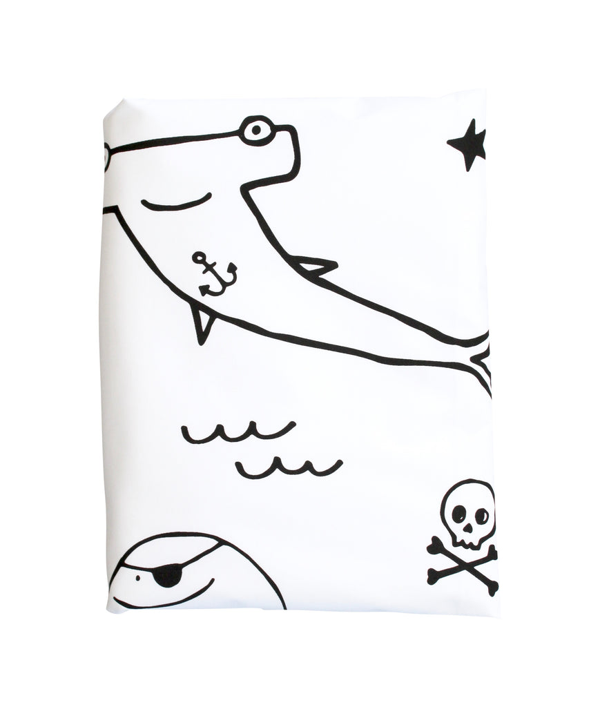 Black Pirate Gang Duvet Cover