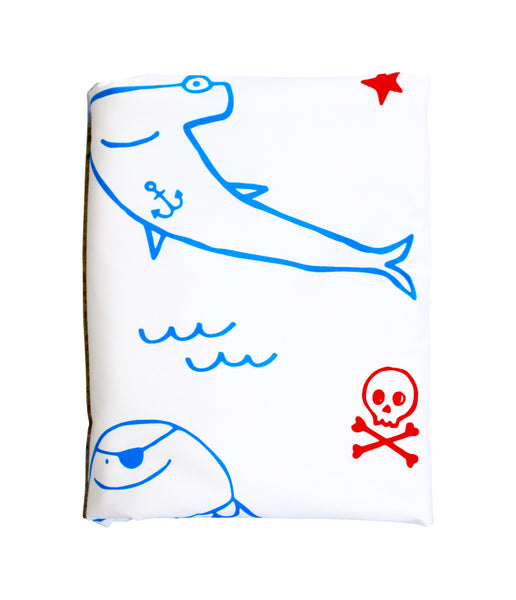 Blue|Red Pirate Gang Duvet Cover