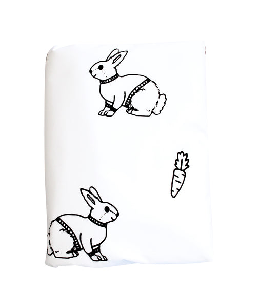 Black Mini Bunny Duvet Cover