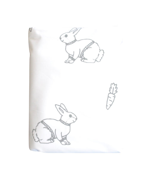 Grey Mini Bunny Duvet Cover
