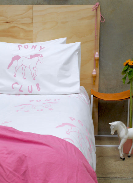 Pink Pony Club Duvet Cover