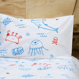 Blue|Red Pirate Gang Pillowcase