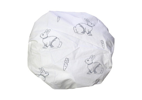 Grey Mini Bunny Fitted Cot Sheet
