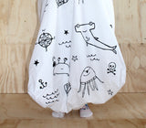 Black Pirate Gang Fitted Cot Sheet