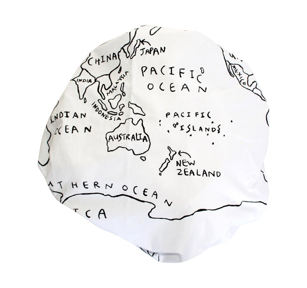 World Map Fitted Cot Sheet