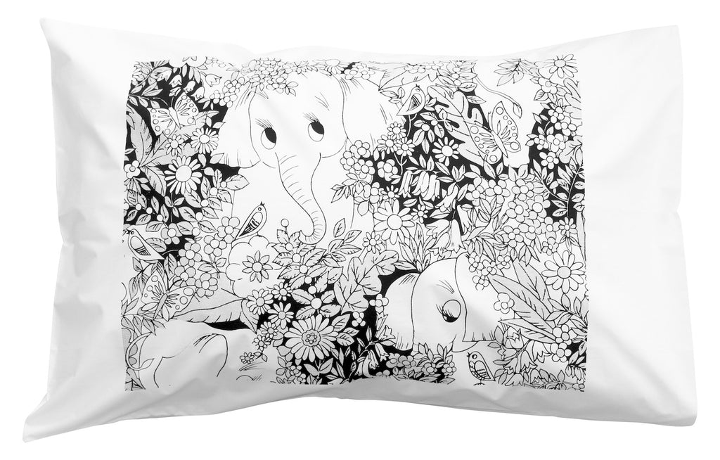 Coco the Elephant Pillowcase