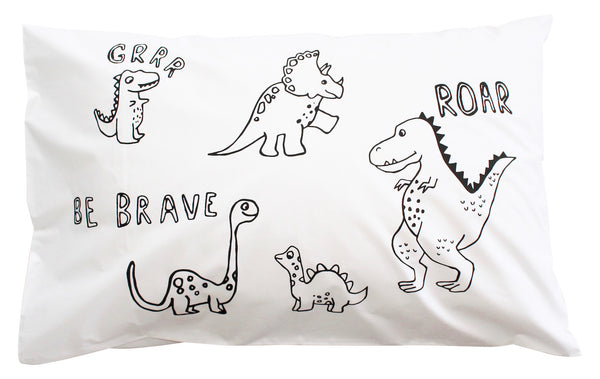 Be Brave Dino Pillowcase