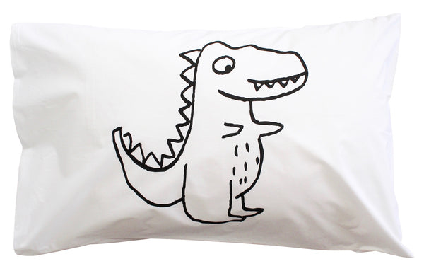Black Roar Dino Pillowcase