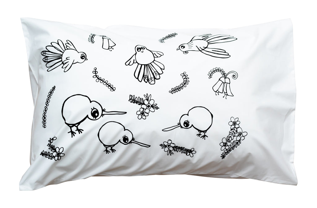 Bird Party Pillowcase