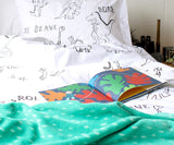 Be Brave Dino Duvet Cover