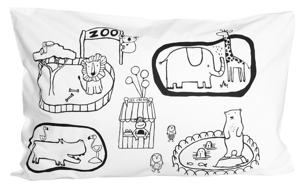 Zoo World Pillowcase