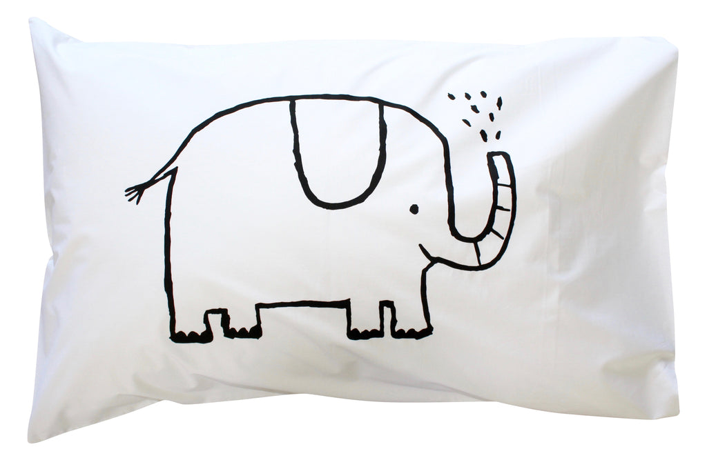 Black Elephant Pillowcase