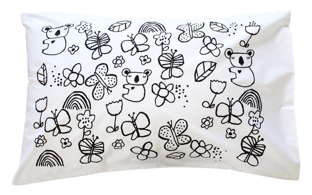 Black Mini Koala Pillowcase