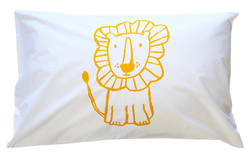 Yellow Lion Pillowcase