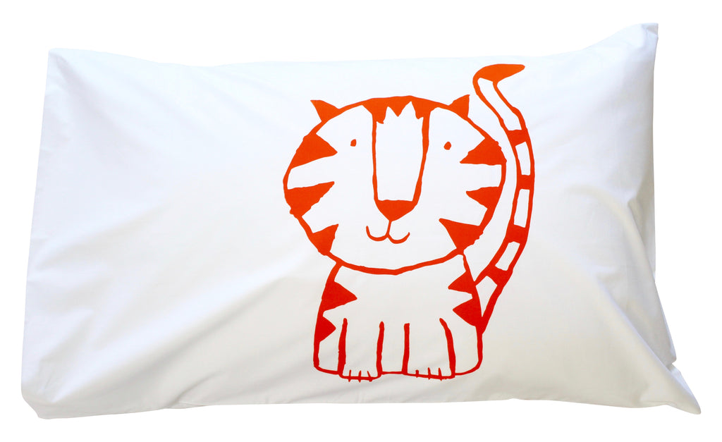 Orange Tiger Pillowcase