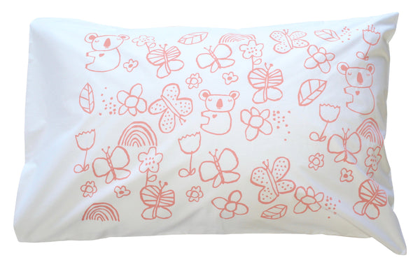 Blush Mini Koala Pillowcase