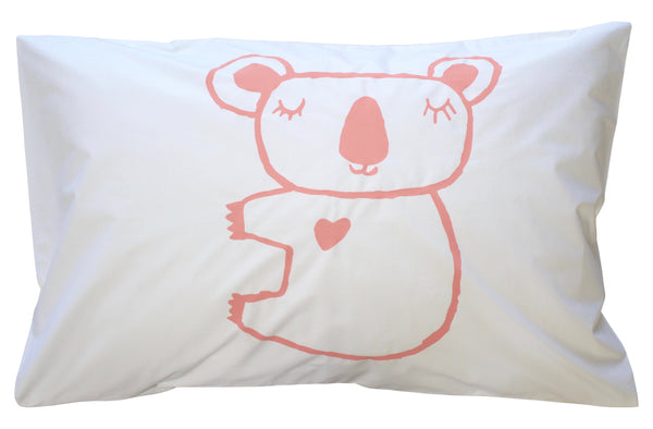Blush Koala Pillowcase