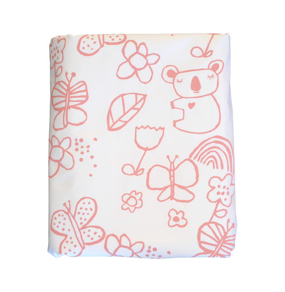 Blush Mini Koala Duvet Cover
