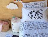 Black Ladybug Pillowcase