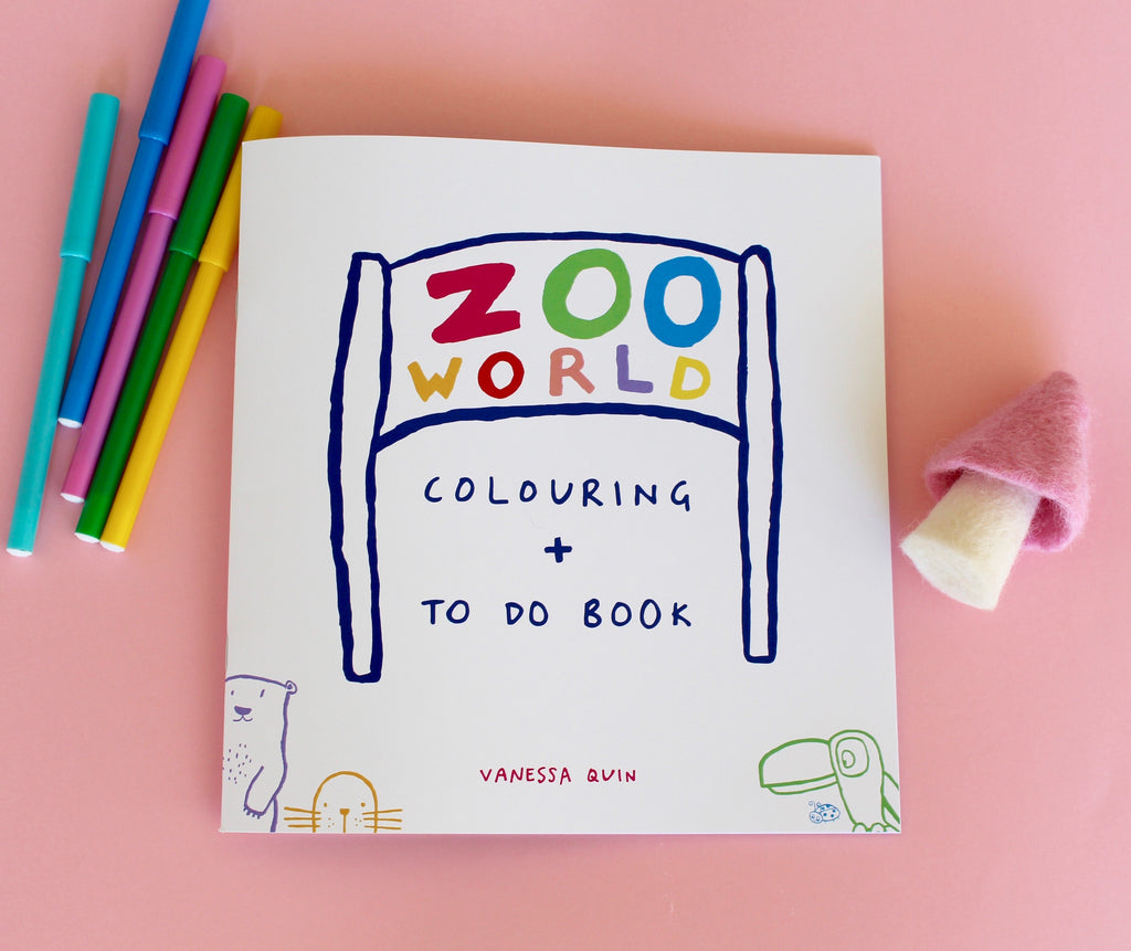 Zoo World Colouring + To Do Book