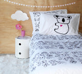 Black Koala Pillowcase