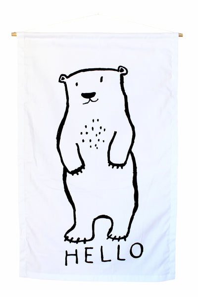 Hello Polar Bear Banner