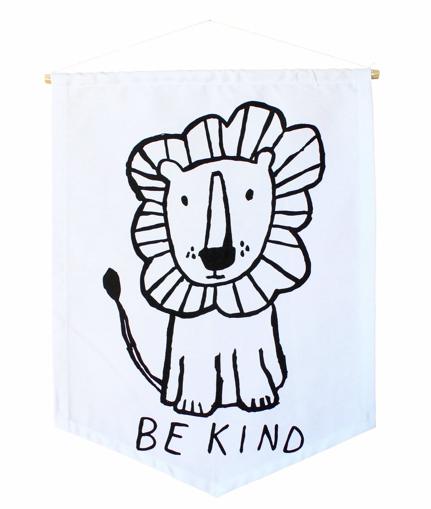 Be Kind Lion Banner