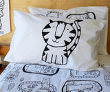Black Tiger Pillowcase