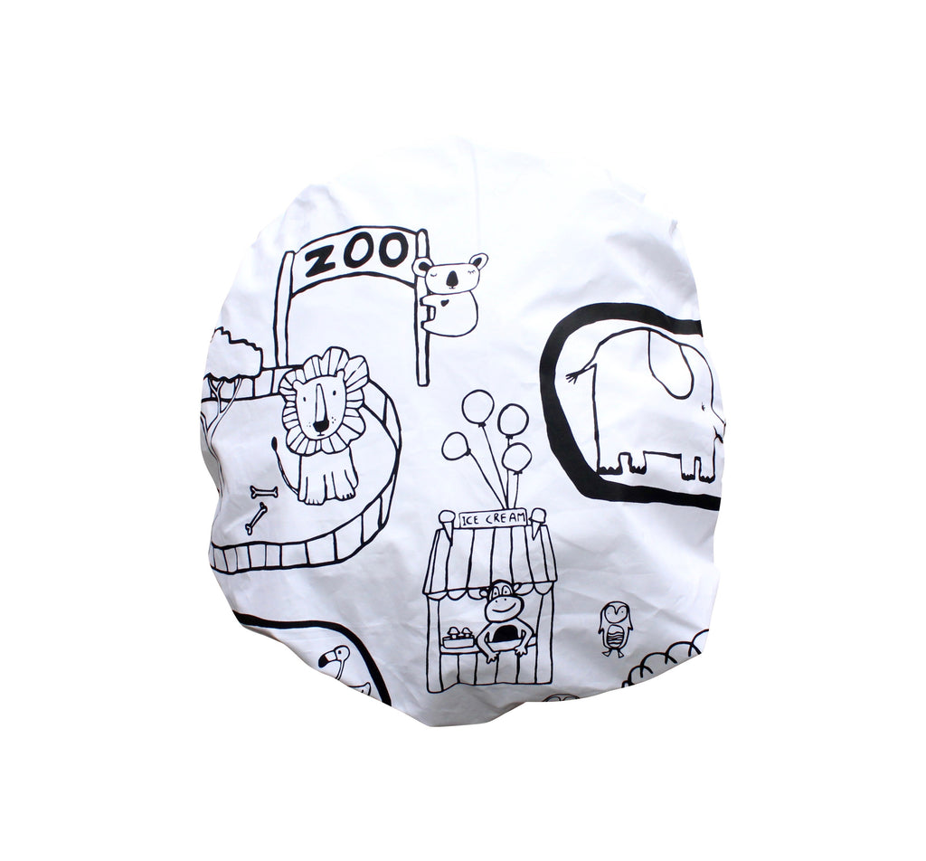 Zoo World Fitted Cot Sheet